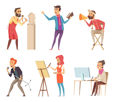 Different characters of creative professions