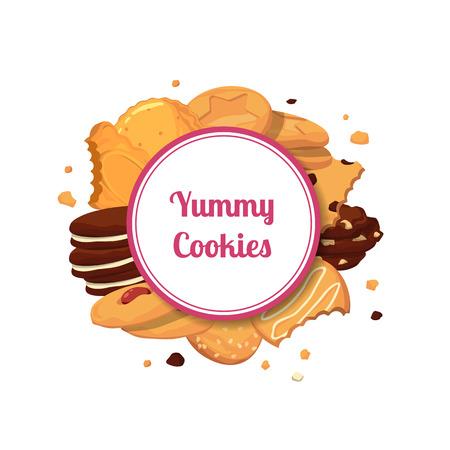 Vector cartoon cookies