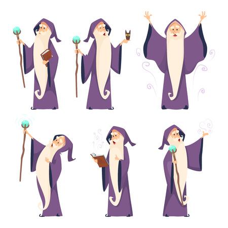 Cartoon wizard character in various poses 写真素材 - 103283084