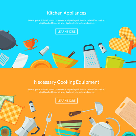 Vector kitchen utensils icons