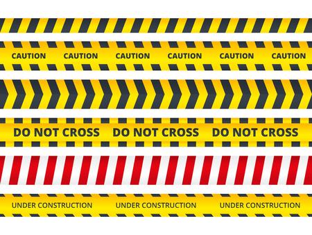 Seamless security stripe. Safety danger signs do not enter danger message police crime scene vector symbols. Stripe security, area crime and safety illustration