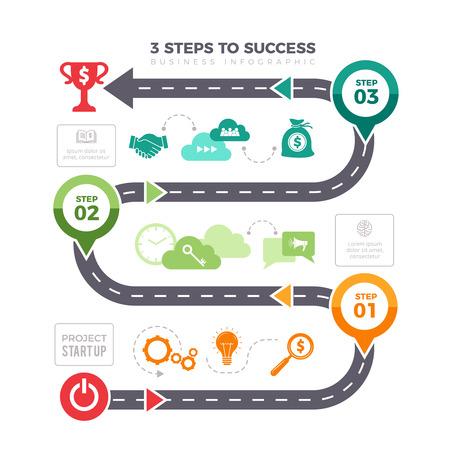 Infographie des étapes réussies. Graphiques d'entreprise niveaux de pyramide réalisation mission éléments d'infographie vectorielle. Niveau d'activité infographique pour l'illustration de la réussite Vecteurs
