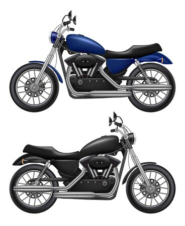Motorcycle realistic. Urban transport sport motorbike vintage vehicle vector high quality isolated illustration. Motorcycle and motorbike, engine transport motor