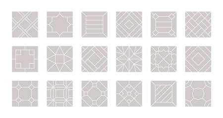 Floor seamless. Tiles design for parquet laminate vector pattern floor collection.