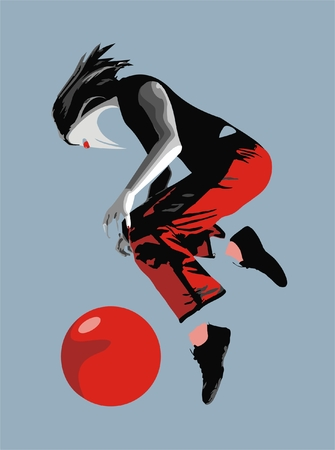 The strange essence plays with a ball in flight Illustration