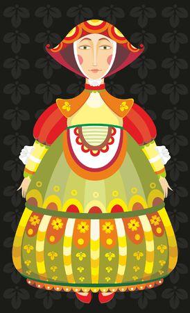 The girl in an elegant celebratory suit Stock Vector - 8938020