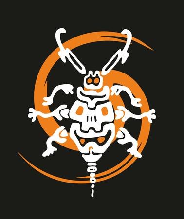 stylised bug