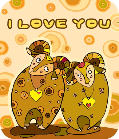 Two enamoured animals Vector