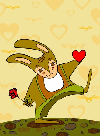 stride: Going hare with heart and a rose in paws