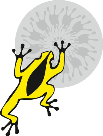 leapfrog: Yellow frog on a flower