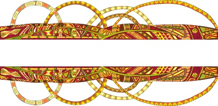 Decorative strip with an ethnic ornament Stock Vector - 13120106