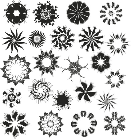 Set of vector black snowflakes Stock Vector - 13383450
