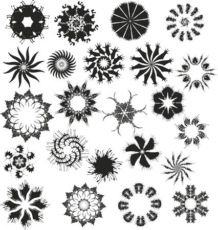 Set of vector black snowflakes Stock Vector - 13383450