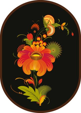 Vector bright flowers on a black background Stock Vector - 13383423