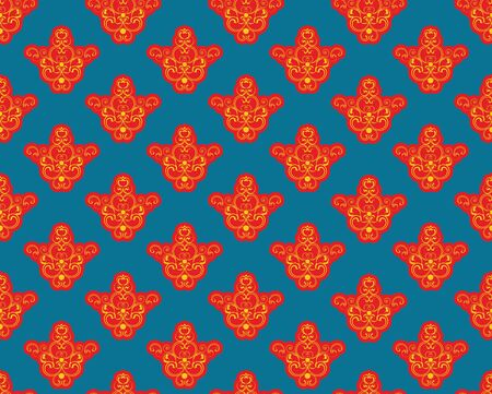 Seamless background with a red pattern on a dark blue background Stock Vector - 13487367