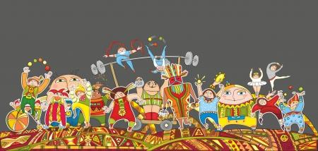 strongman: The big circus representation  Illustration