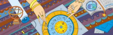 Hands show on zodiac signs  The astrological prognosis