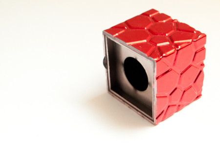 red cube: Red Cube Stock Photo