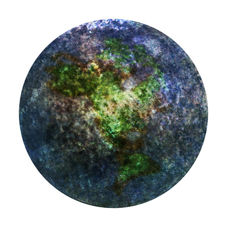 Blue New Planet Earth from space. 3D illustration.