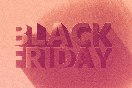 Banner for sales on black friday hot sale. Stock Photo