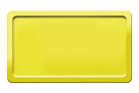 Yellow Road signs isolated on a white background. 3d render