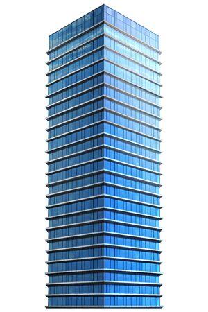 Single business skyscraper isolated on white background. Business center. 3D illustration. Stock fotó