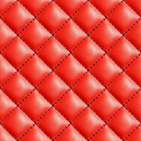 Seamless red leather texture background. English red genuine leather upholstery.