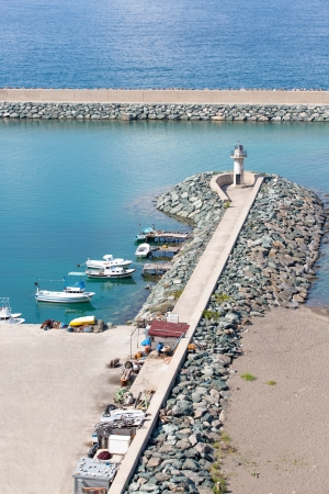 Jetties and Lighthouse in Northen Turkey Black Sea region Stock Photo - 15796450