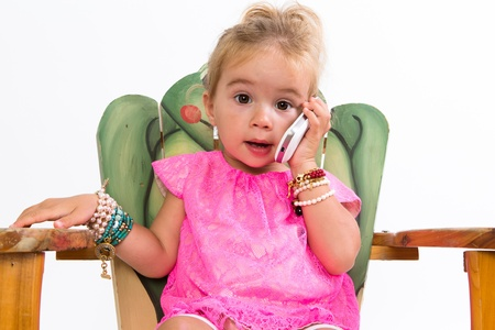 hang up: I told you sweetheart I cannot make it and she hang up the cell phone in her lovely pink dress