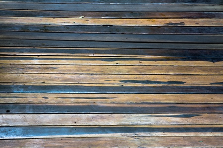 slats: Two colored horizontal old rustic flooring planks background Stock Photo