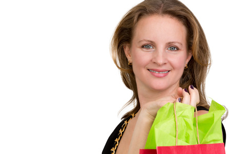 might: Shopper lady done with her shopping, might be just starting Stock Photo