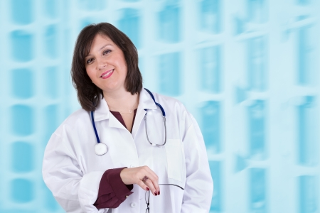 Sympathetic healthcare employee looking at you genuinely and friendly photo