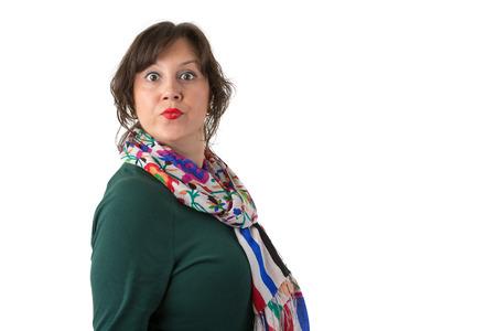tiran: Vrouwen met grote ogen kijken naar je boos misschien geërgerd ze met je acties en hogere autoriteit dan je hebt