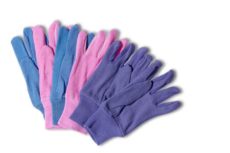 nonslip: Ladies gardening gloves with a surface covering of small PVC dots for a non-slip gri