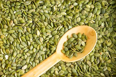 semillas de calabaza completa la textura del fondo del marco de semillas de calabaza verdes