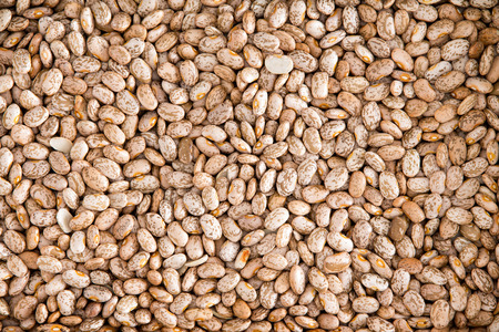 pinto: Healthy Brown Pinto Beans with High Fiber and Low Fat Contents, used for Wallpaper Backgrounds. Captured in High Angle View