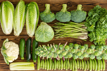 Full frame of winter vegetables on market table Фото со стока