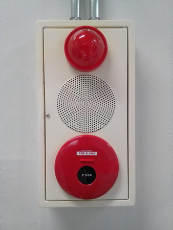 Fire alarm on the wall photo