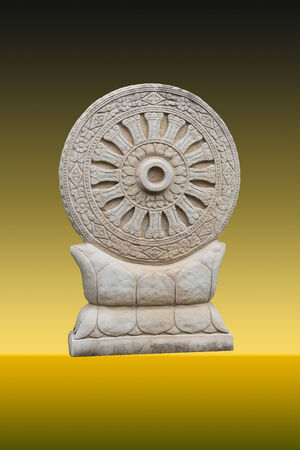 dhamma: Wheel of Dhamma Archivio Fotografico