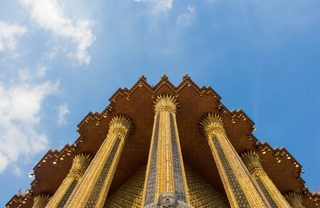 thailand temple: Thailand temple with sky Stock Photo