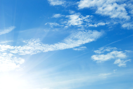 nebulosity: blue sky Stock Photo