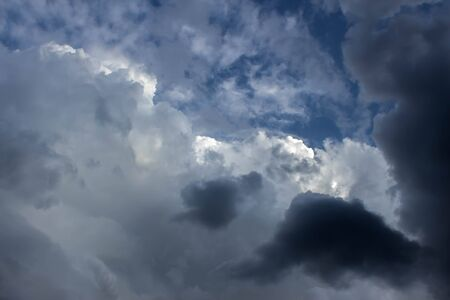 stormy clouds: Strong stormy clouds Stock Photo