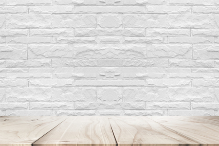 white wood floor: white wood floor and whit wall background