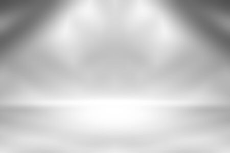 Gray empty room studio gradient used for background and display your product Imagens