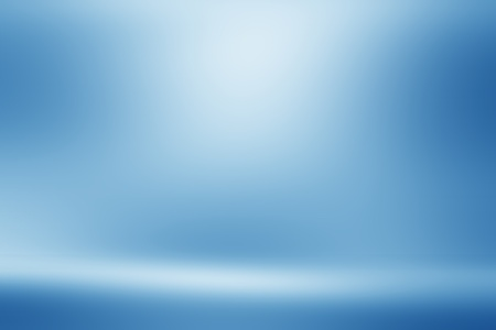 Blue empty room studio gradient used for background and display your product Imagens