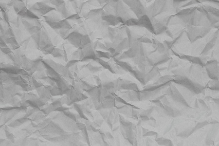 Texture crease of white paper for template wallpaper. wrinkle of gray paper crumpled background.