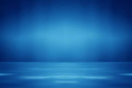 Blue empty room studio gradient used for background and display your product Stockfoto