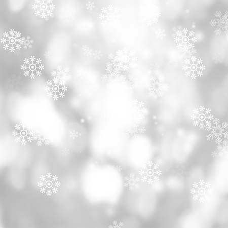 white blur abstract background. bokeh christmas blurred beautiful shiny Christmas lights. Snow background.