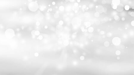 white snow blurred abstract background. bokeh christmas blurred beautiful shiny Christmas lights