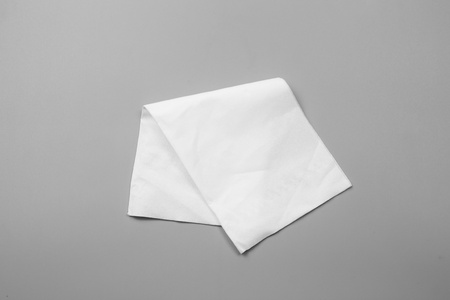 White tissues on gray background Stockfoto
